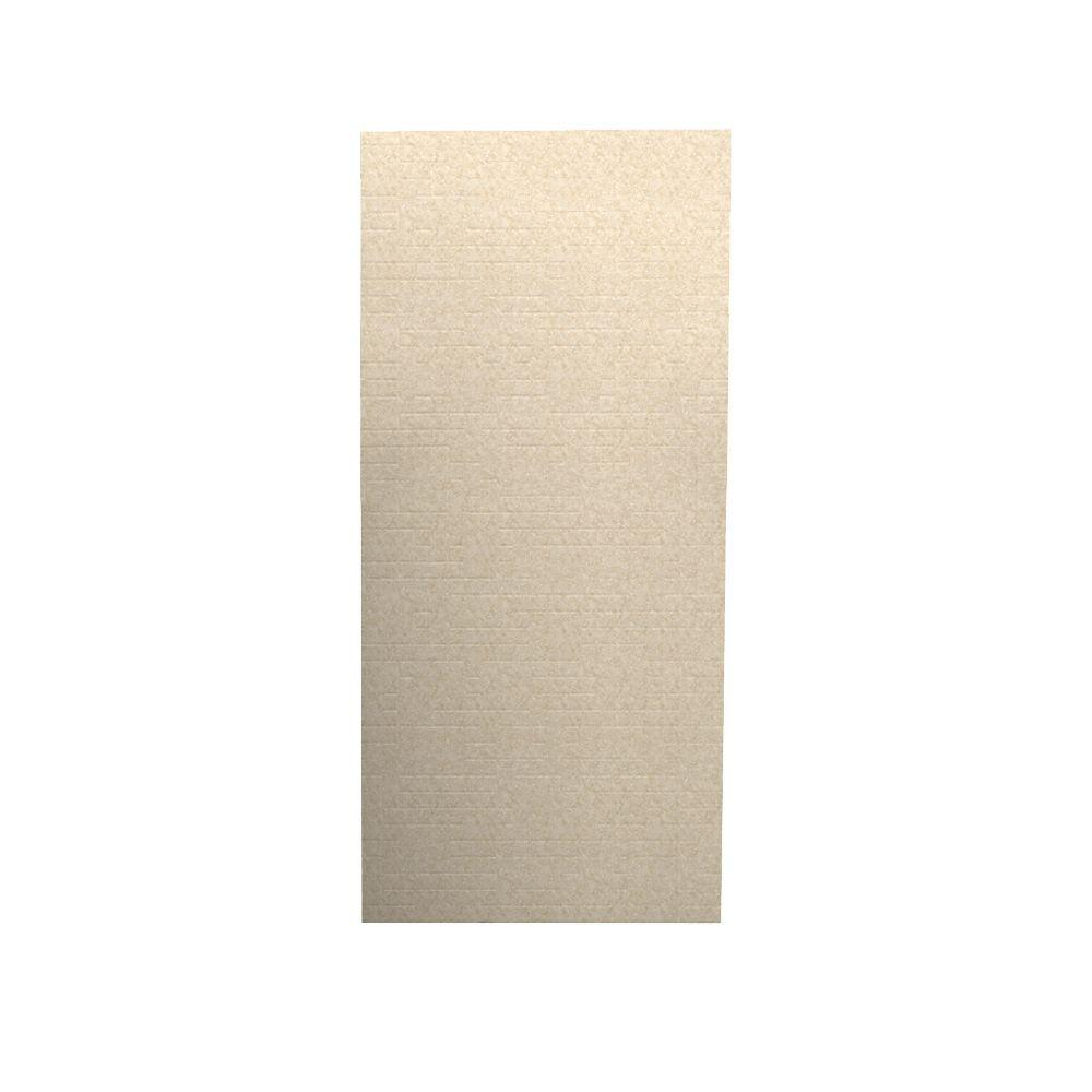 Swanstone Geometric 1/4 in. x 36 in. x 96 in. One Piece Easy Up Adhesive Shower Wall in Cornflower-DISCONTINUED