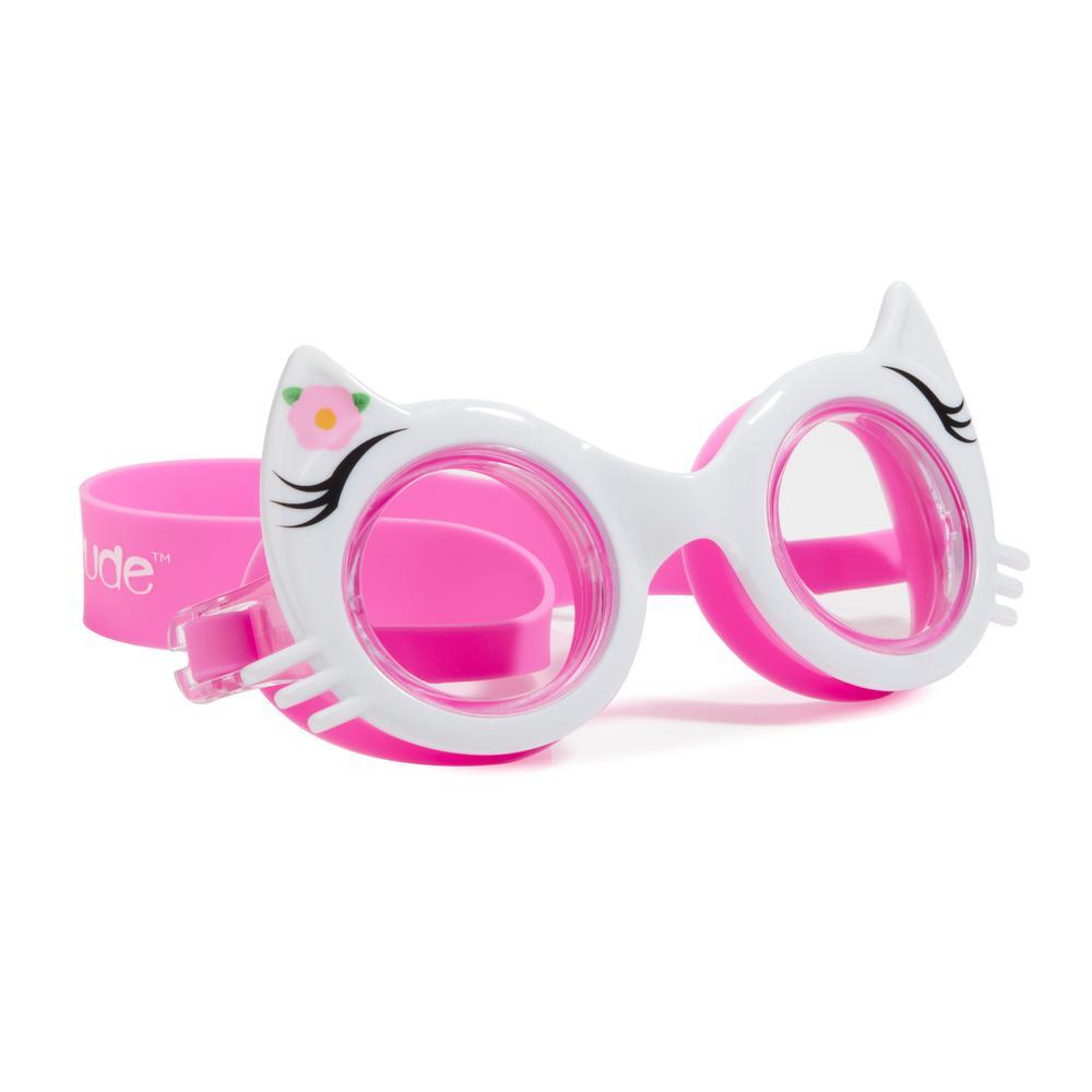 White, Rainbow, Blue Girls Kitty Classic Goggle's