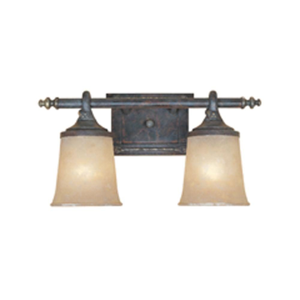 Designers Fountain El Paso 2-Light Weathered Saddle Wall Light-97302-WSD - The Home Depot  sc 1 st  Home Depot & Designers Fountain El Paso 2-Light Weathered Saddle Wall Light-97302 ...