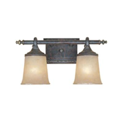 Austin 2-Light Weathered Saddle Wall Light