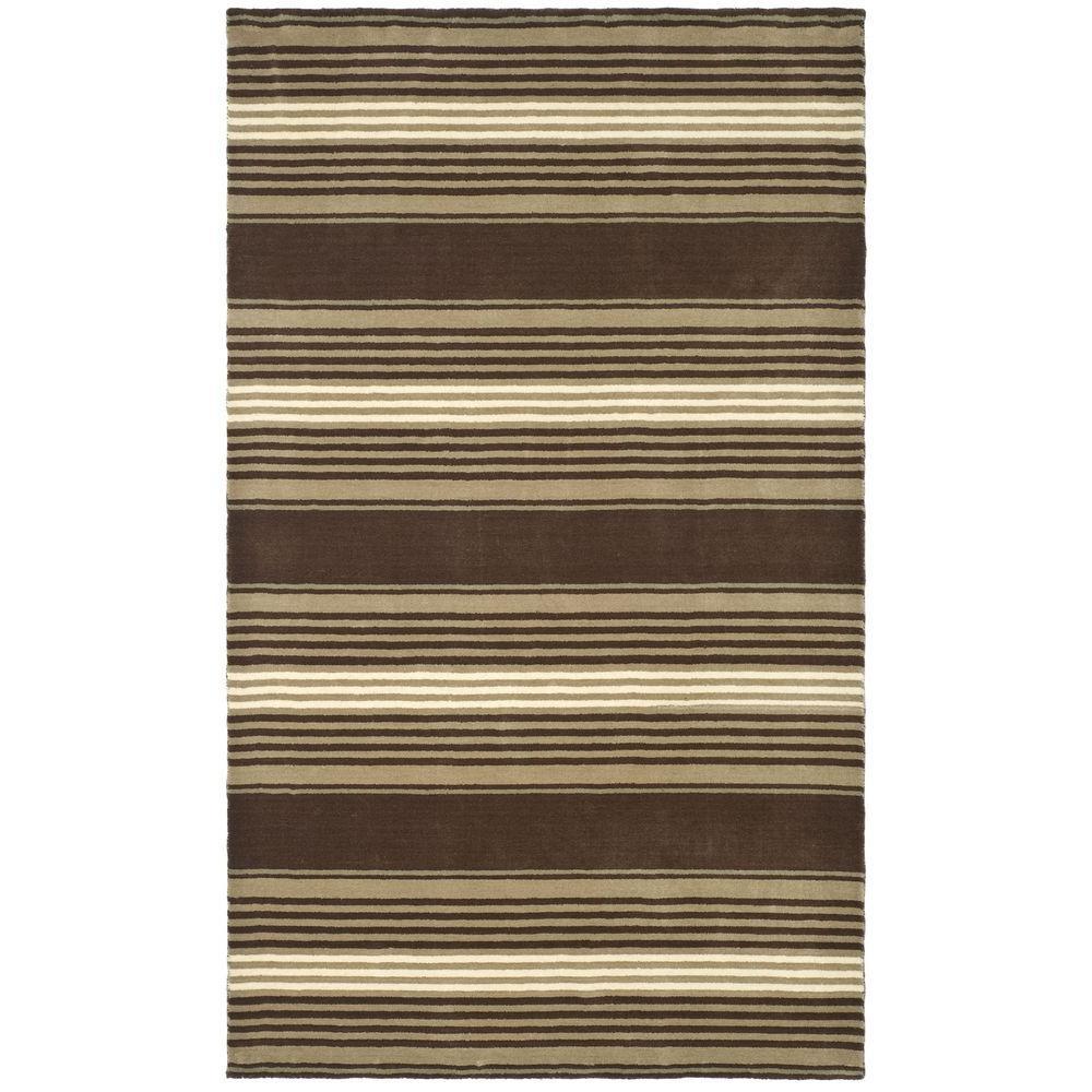 Martha stewart living harmony stripe tobacco leaf 5 ft x for Martha stewart rugs home decorators