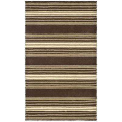 Martha Stewart Harmony Stripe Tobacco Leaf 9 ft. x 12 ft. Area Rug