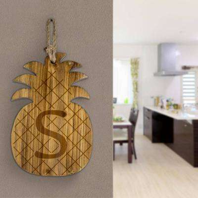 Wood Pineapple Hanging Initial Wall Letter S