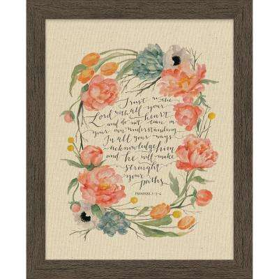 "GraceLaced ""Trust In The Lord"" by GraceLaced for Carpentree Printed Framed Natural Canvas Wall Art"