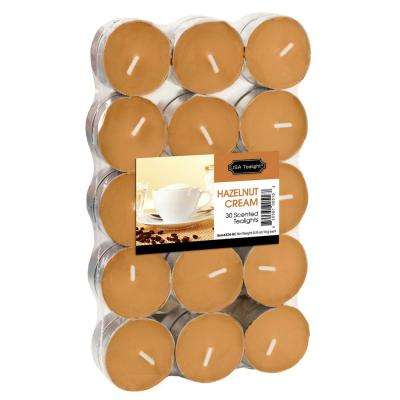 Hazelnut Cream Tealight Candles (Set of 60)