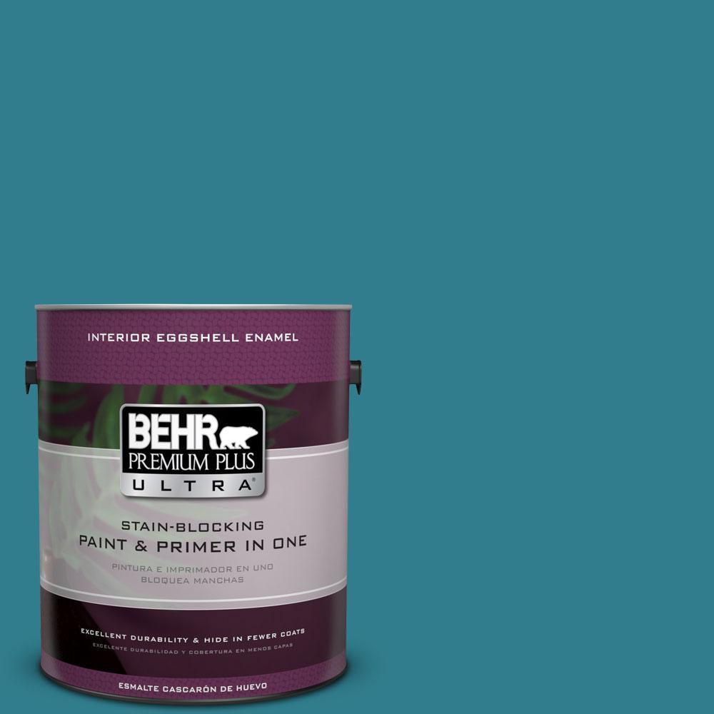 BEHR Premium Plus Ultra Home Decorators Collection 1-gal. #HDC-CL-27 Calypso Blue Eggshell Enamel Interior Paint