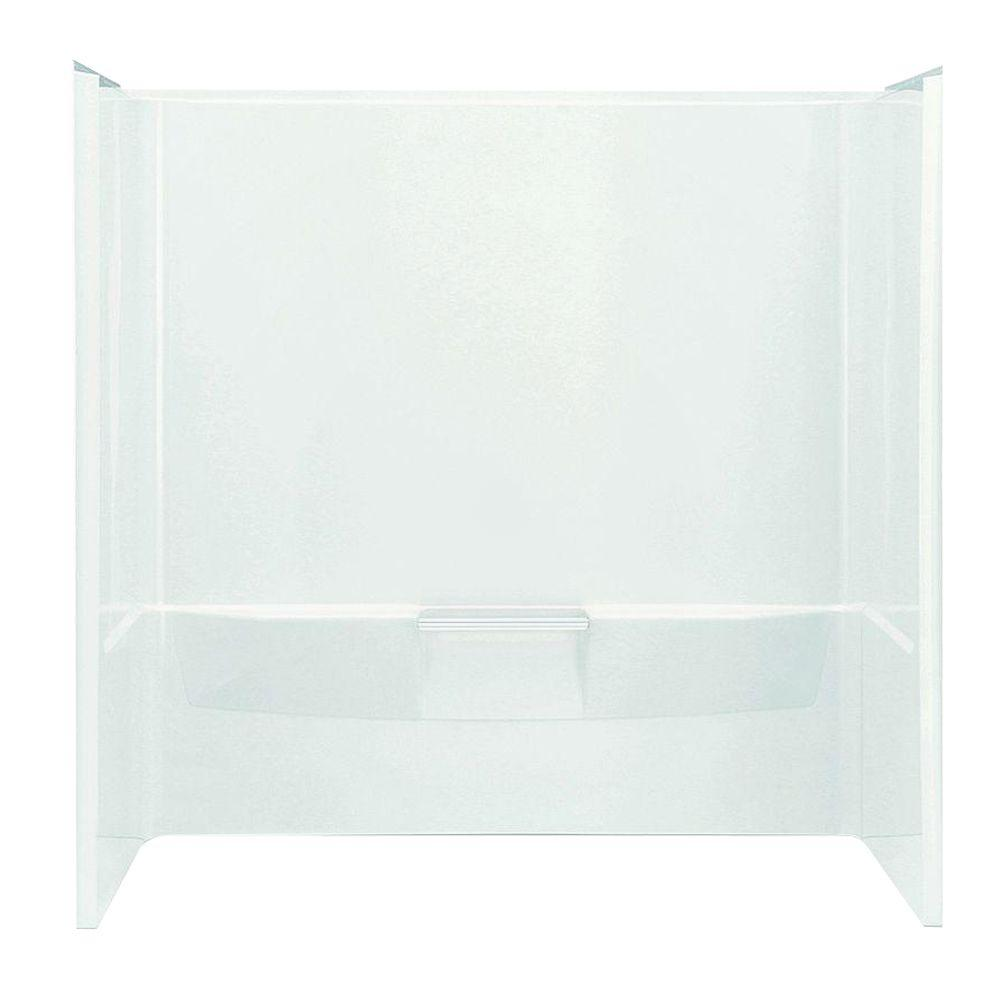 STERLING Performa 60 in. x 30 in. x 60-1/4 in. 3-piece Tub and ...