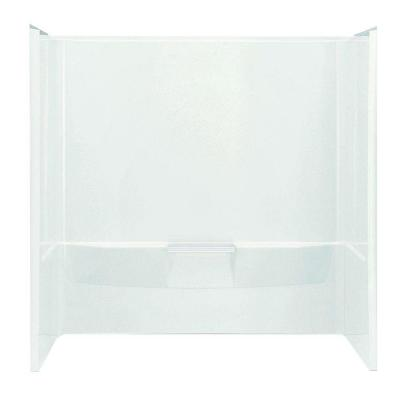 Performa 60 in. x 30 in. x 60-1/4 in. 3-Piece Tub and Shower Wall Set in White