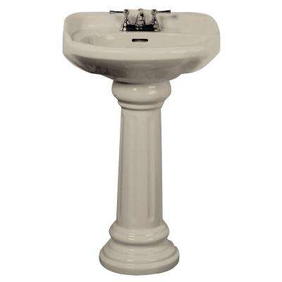 Vicki 22 in. Pedestal Combo Bathroom Sink in Bisque
