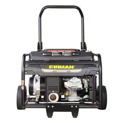 9000-Watt Gas Electric Start Portable Generator with Wheel Kit