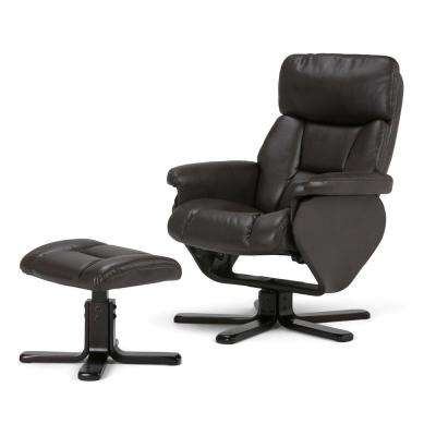 Whitman Brown Air Leather Recliner (Set of 1)