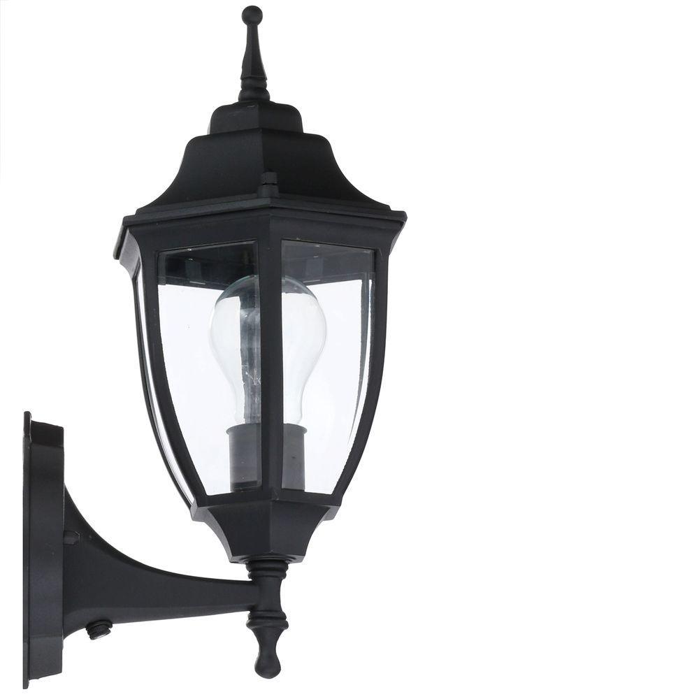 Hampton Bay Black Outdoor Wall Lantern Sconce 2 Pack Hd 4470t Bk The Home Depot