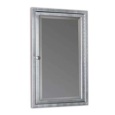 16 in. W x 26 in. H x 3-1/2 in. D Framed Single Door Stainless Steel Recessed Bathroom Medicine Cabinet