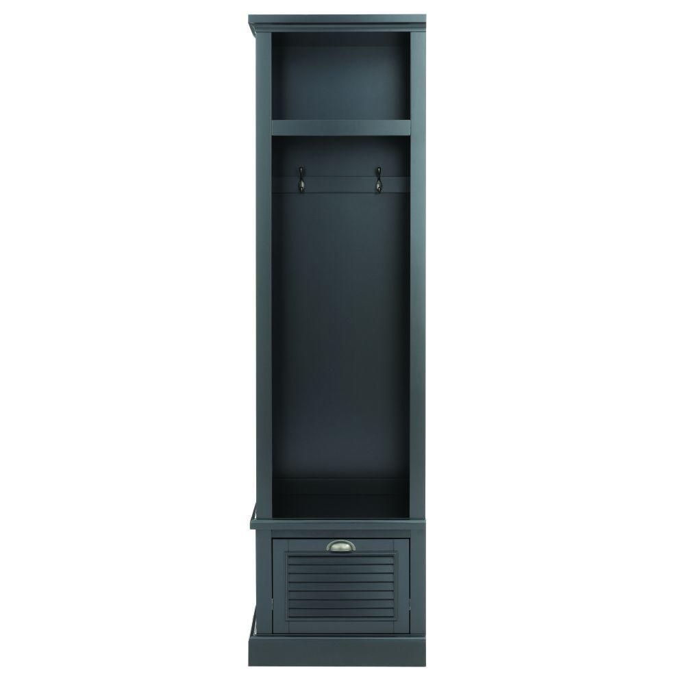 Shutter 74 in. H x 20 in. W x 18 in. D Modular Open Left Locker in Worn Black