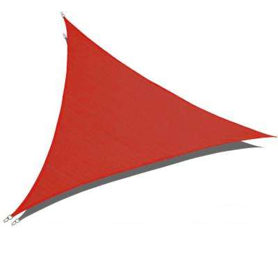 16 ft. x 16 ft. x 16 ft. Red Triangle Sun Shade Sail 185 GSM UV Block for Patio Deck Yard and Outdoor Activities
