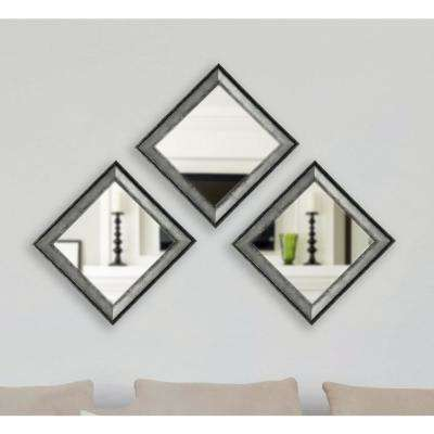 Sterling Charcoal Vanity Square Mirror Set Of 4