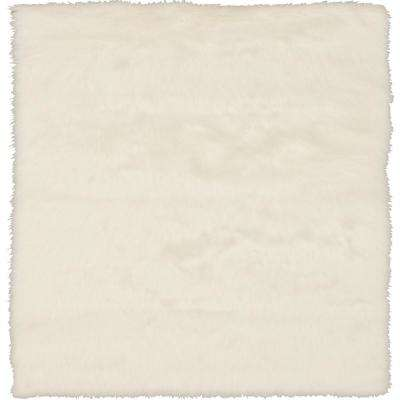 Faux SheepSkin White 11 ft. x 16 ft. Area Rug
