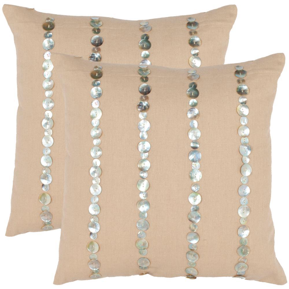 Safavieh Jenna Embellished Pillow (2-Pack)