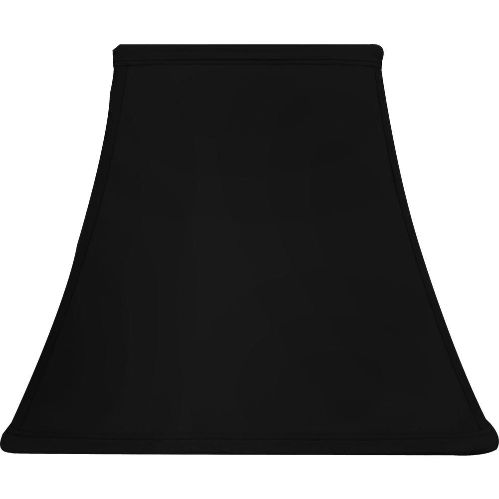 Hampton Bay Mix And Match Black Square Bell Table Shade