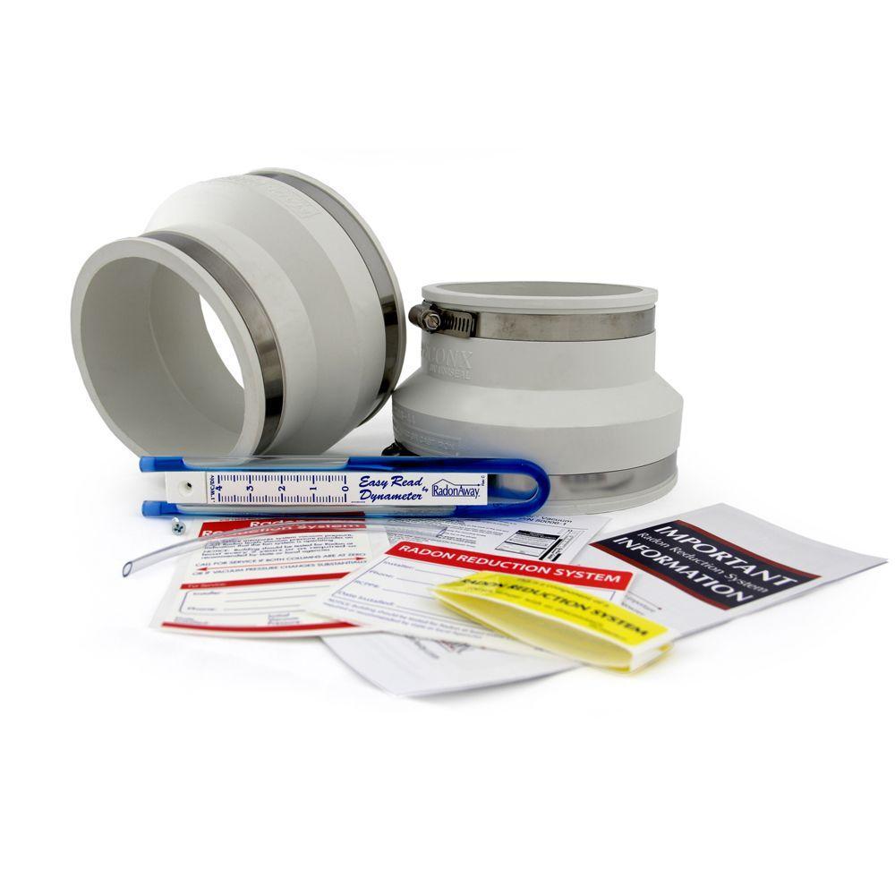 RadonAway 4 in. x 6 in. Radon Install Kit in White-DISCONTINUED