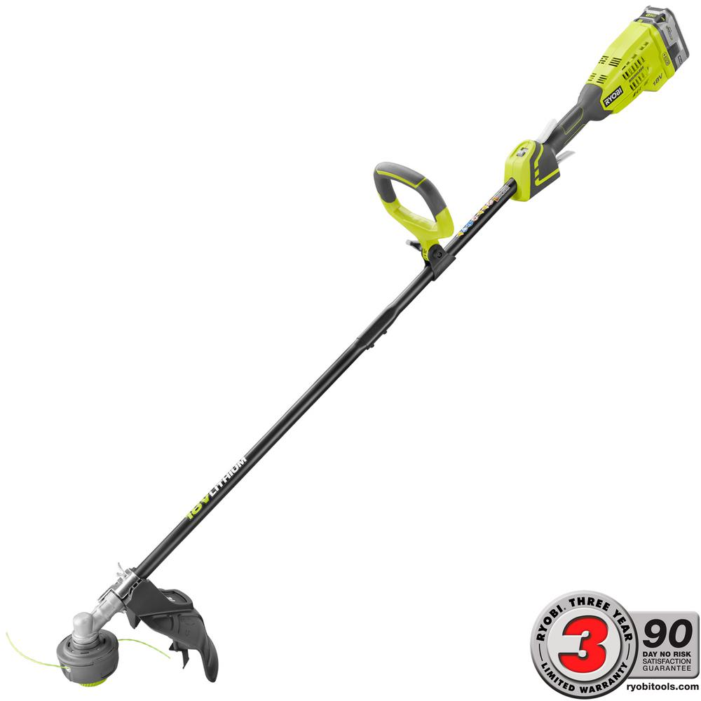 ONE+ 18-Volt Lithium-Ion Brushless Cordless String Trimmer - 4.0 Ah Battery