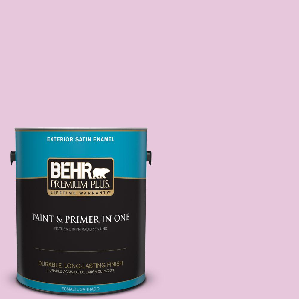 1-gal. #M120-2 Kiss Good Night Satin Enamel Exterior Paint