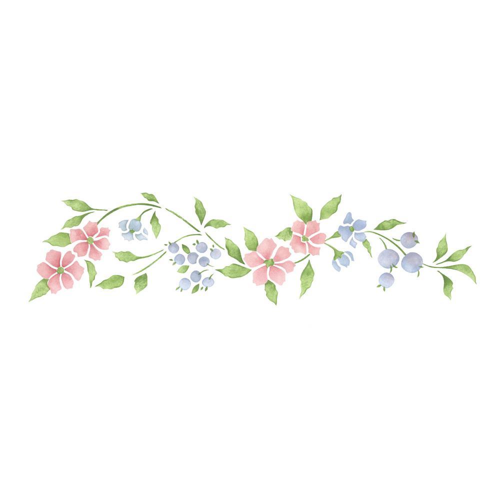 Le Blossom Wall Stencil