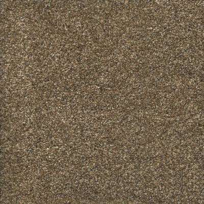 Carpet Sample-Stryker Court -Color Greystone Texture 8 in. x 8 in.