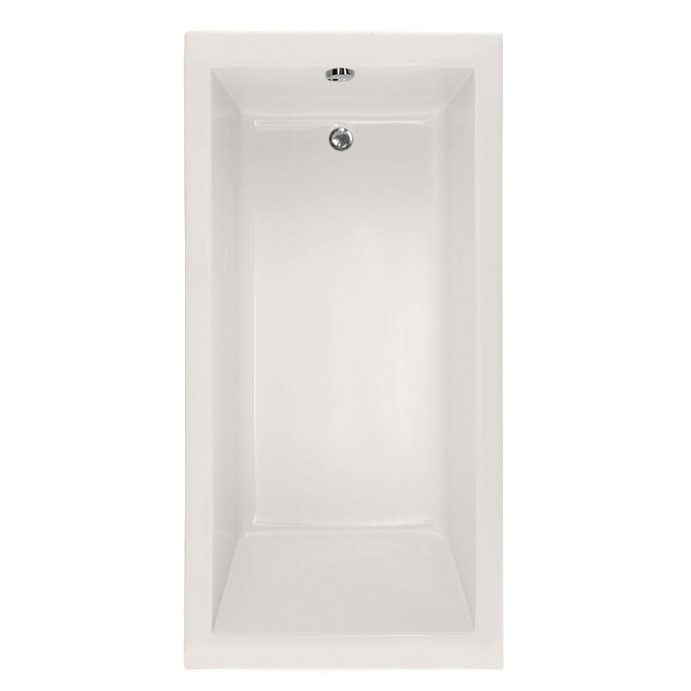 Studio Lacey 5 ft. Reversible Drain Soaking Tub in White