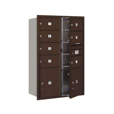3700 Series 48 in. 13 Door High Unit Bronze Private Front Loading 4C Horizontal Mailbox with 7 MB2 Doors and 2 PL5's