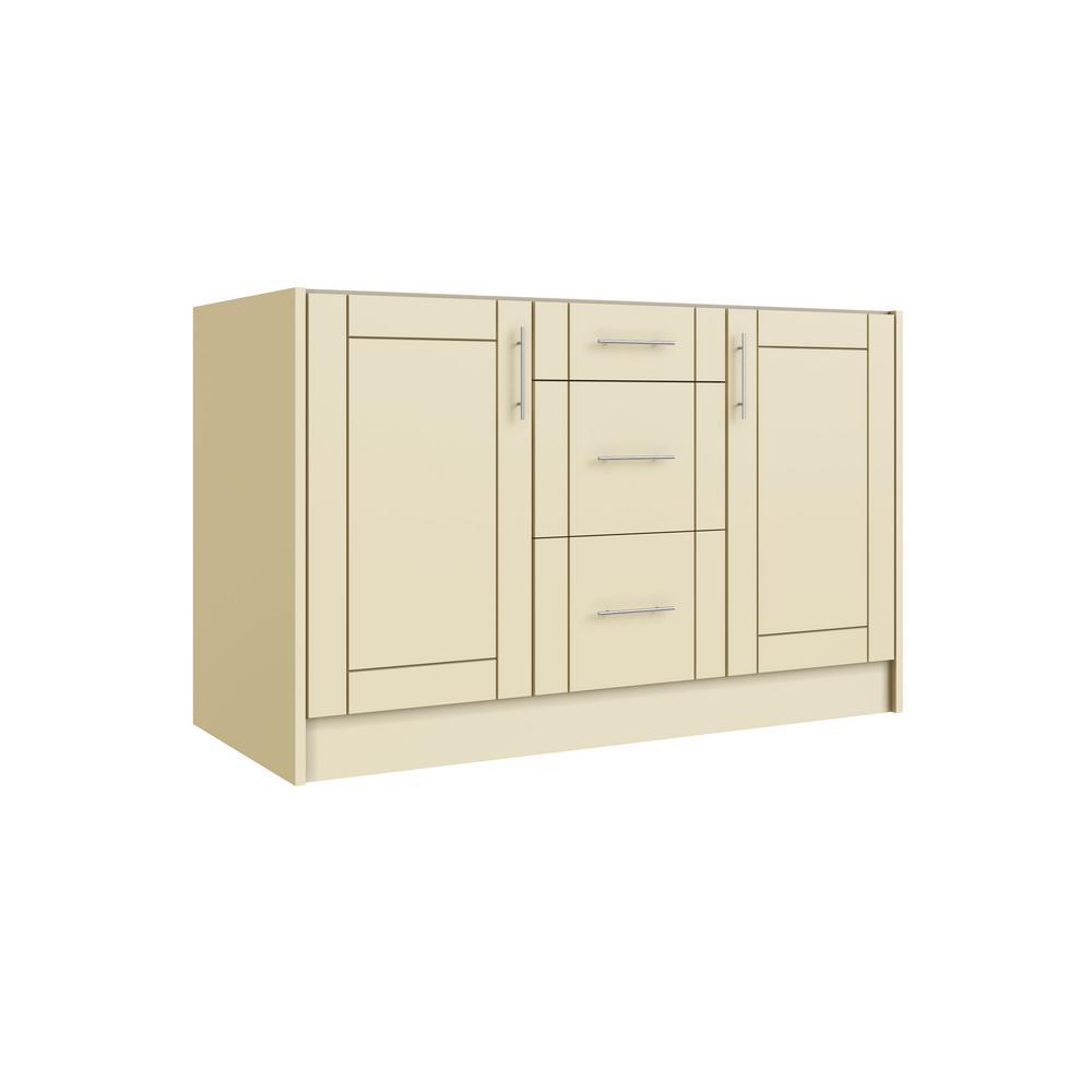 Daytona Bluff Beige 16-Piece 54 in. x 34.5 in. x 24 in. Outdoor Kitchen Cabinet Island Set