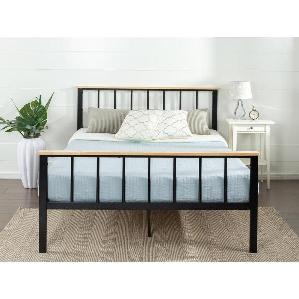 Zinus Brianne Metal and Wood Platform Bed Frame, Twin HD-HBPBD-14T