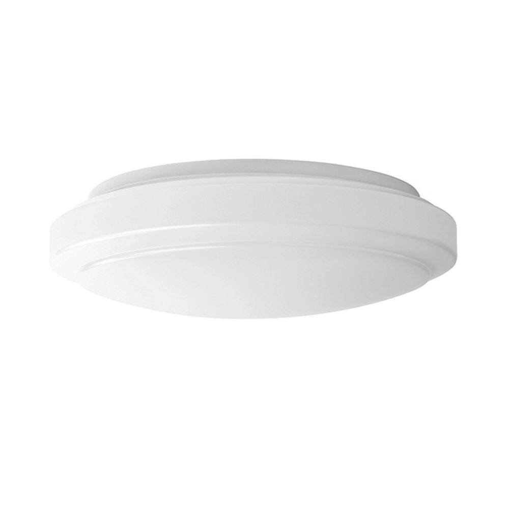 Hampton bay 12in 2 light round bright white led flushmount ceiling 2 light round bright white led flushmount ceiling light fixture dimmable aloadofball Choice Image