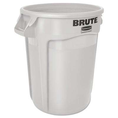 Brute 10 Gal White Round Trash Can