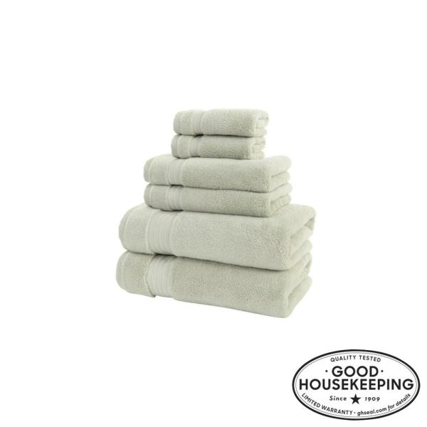 Egyptian Cotton 6-Piece Towel Set in Sage