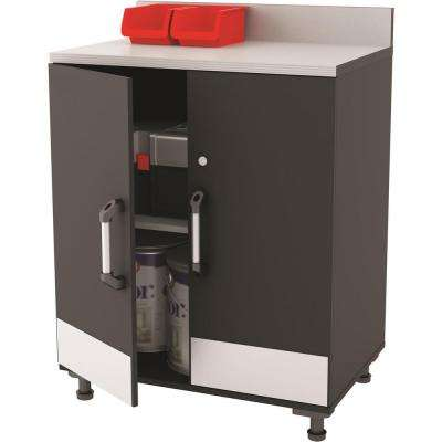 Boss 29.68 in. W x 40.87 in. H x 19.68 in. D - 2 Door Base Cabinet in Steel Gray