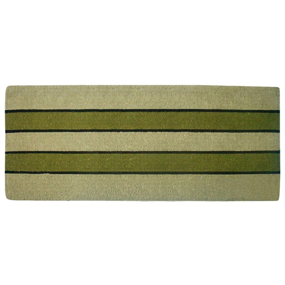 Nedia Home Pistachio 24 in. x 57 in. Heavy Duty Coir Plain Door Mat