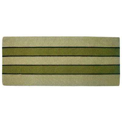 Pistachio 24 in. x 57 in. Heavy Duty Coir Plain Door Mat