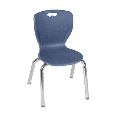 Andy 15 in. Navy Blue Stack Chair