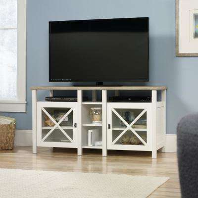 Cottage Road Soft White Entertainment Center