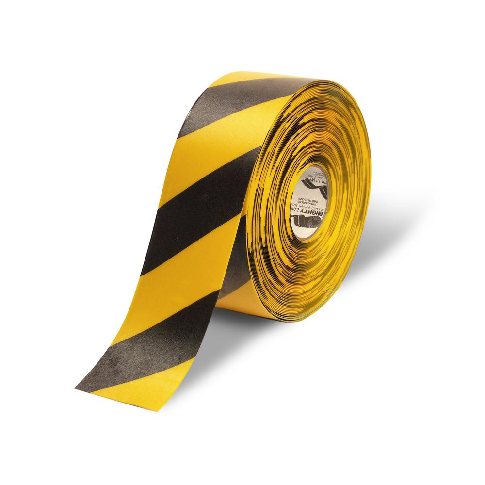 Safety Floor Tape In Yellow With Black Chevrons 100 Ft.