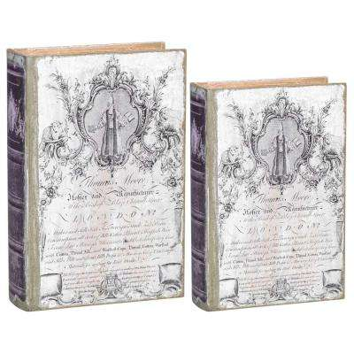 10.5 in. x 3 in. Decorative Book Boxes (2-Pack)
