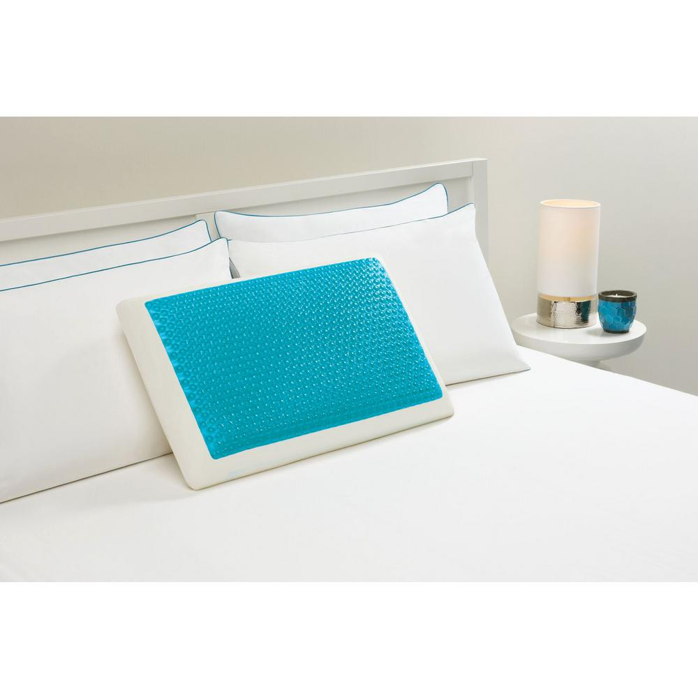 Memory Foam and Hydraluxe Gel Bed Pillow-198-0A - The Home Depot