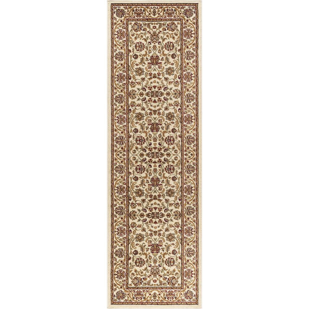 Tayse Rugs Sensation Ivory 2 ft. x 10 ft. Runner Rug