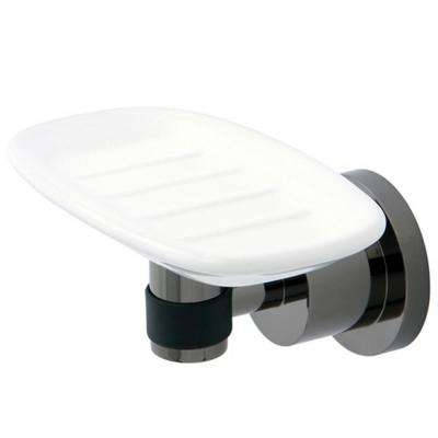 Modern Wall Mounted Soap Dish in Black Stainless Steel