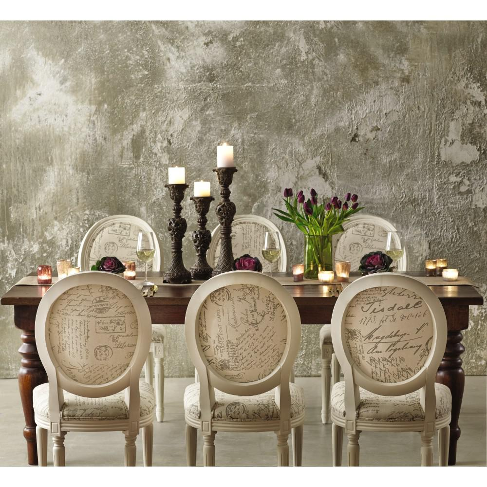 French Country Script Chairs ~ Home decorators collection french oval ivory script