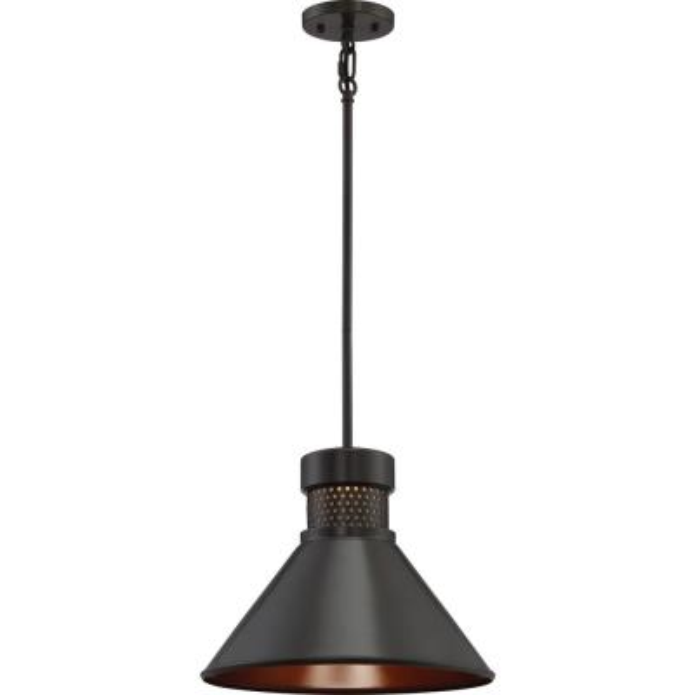 1-Light Dark Bronze Pendant