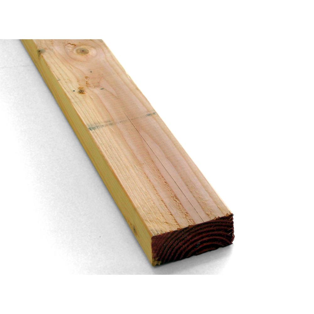 2 in. x 4 in. x 92-5/8 in. Prime Whitewood Stud-569062 - The Home ...
