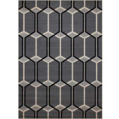 Broadway Deon Grey 5 ft. 3 in. x 7 ft. 9 in. Area Rug