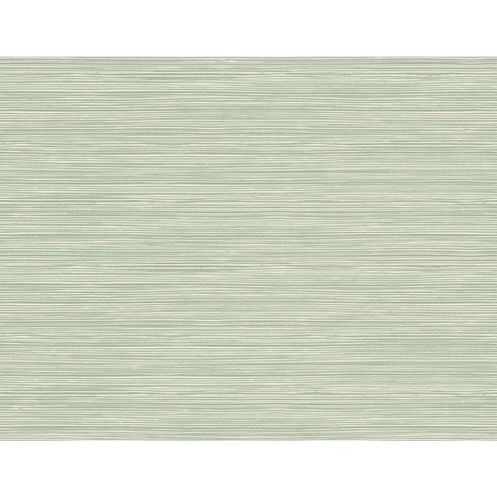 60.8 sq. ft. Bondi Seafoam Grasscloth Texture Wallpaper